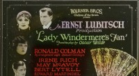 There will be a one-off screening of a rare silent movie classic, Lady Windermere's Fan at the Adam Smith Theatre tonight at 7.30pm. The film is an adaptation of an Oscar Wilde play and was directed by Ernst Lubitsch. The film will be accompanied by a live orchestral score and promises to be a unique evening's entertainment.